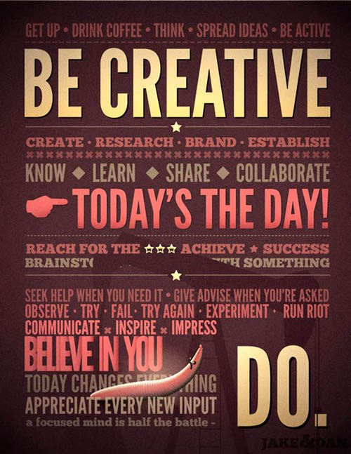 Motivation Creative Typography Picture Quotes