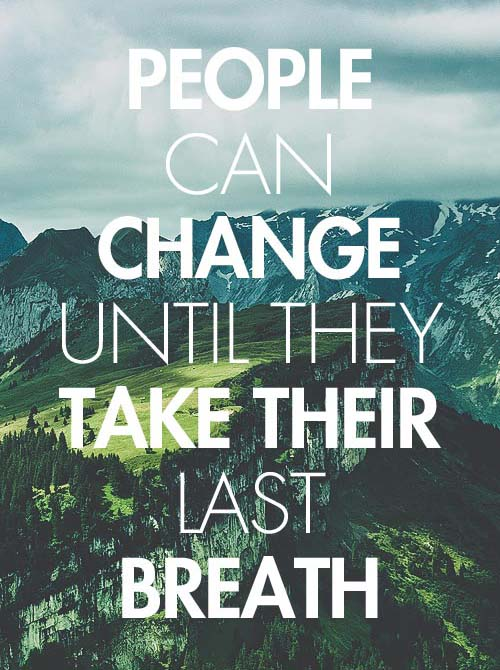 Inspirational Typography Picture Quote About Change