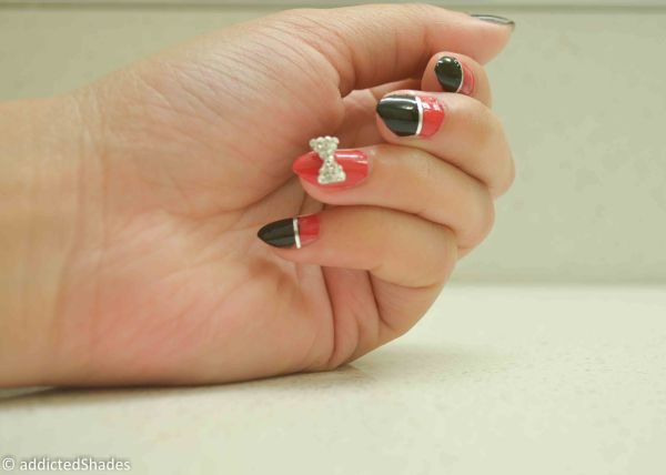 Red & Black Nails