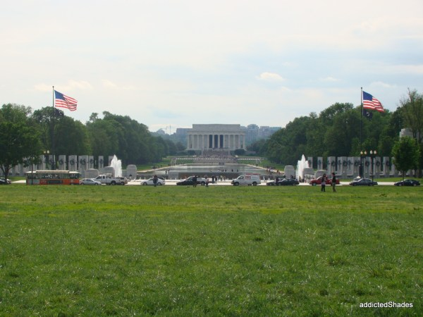 View from the Washington Memorial, that's Lincoln Memorial