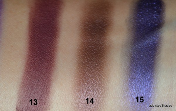 Swatches of Morphe 35P Palette