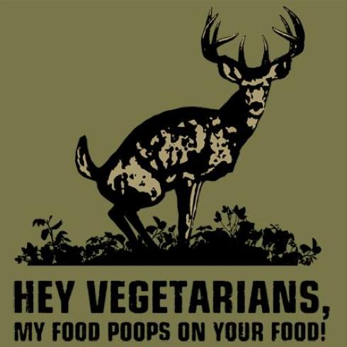My food poops on your food!