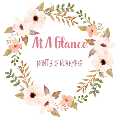 At A Glance: Month Of November