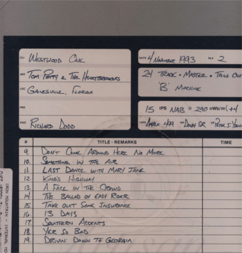 Tom Petty Gainesville Tape Box