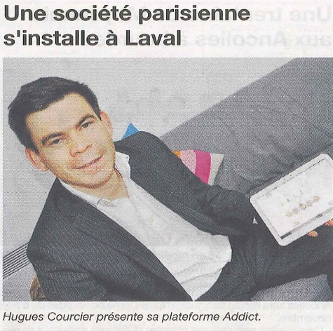 Article Addictill Courrier de la Mayenne