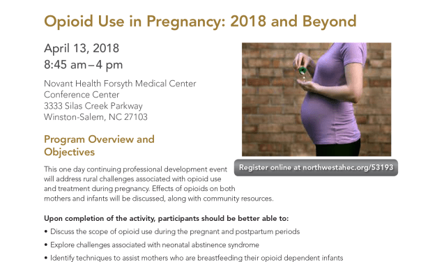 Opioid Use In Pregnancy (Friday, April 13)
