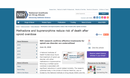 NIH Research Confirms Effective Treatments for Opioid Use Disorder Are Underutilized