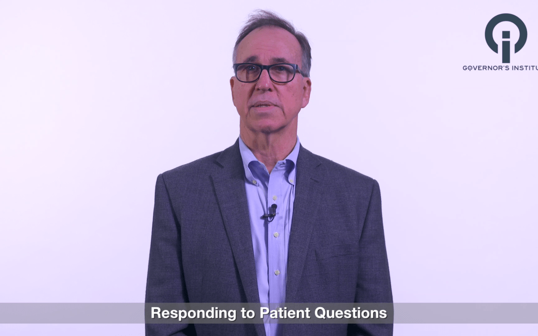 RESPONDING TO PATIENT QUESTIONS WHEN IMPLEMENTING CURRENT PAIN MANAGEMENT GUIDELINES