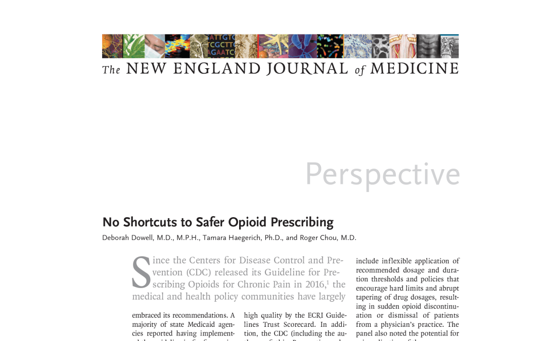 No Shortcuts to Safer Opioid Prescribing
