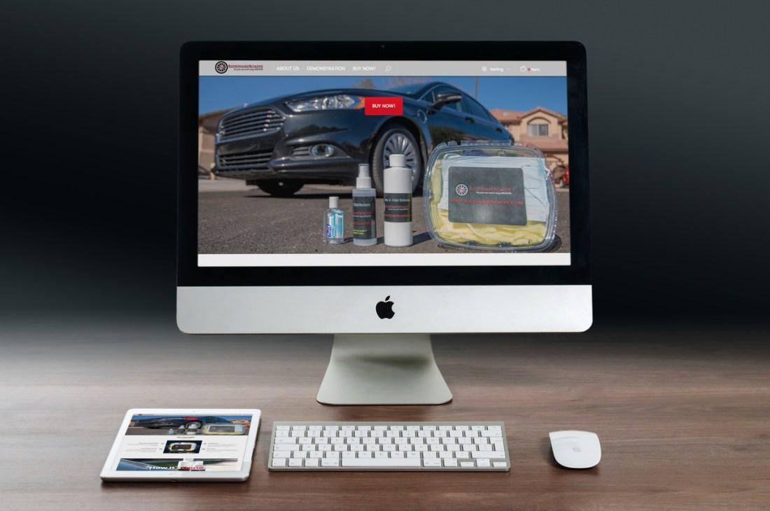 rideshare roadie computer mockup, best website design
