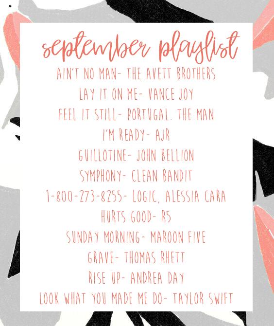 september playlist