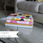 {DIY} Fabric Covered Books