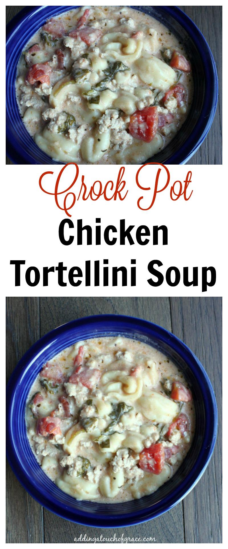 Crock Pot chicken tortellini soup