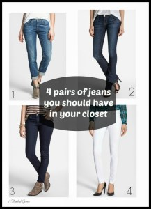 The 4 pairs of jeans you need in your closet