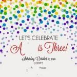 Little A's Rainbow 3rd Birthday Party