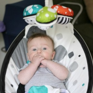 Motherhood the second time around with the mamaRoo infant seat
