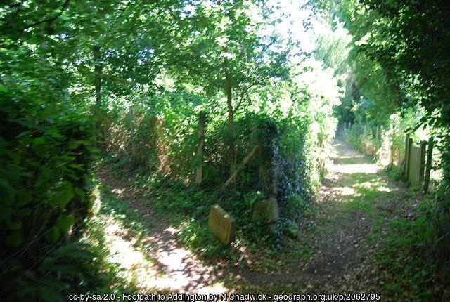 Footpath, Addington