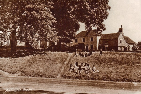 School children on Green 1930s