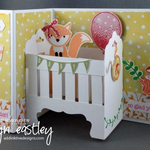 Z-Fold Baby Crib Card