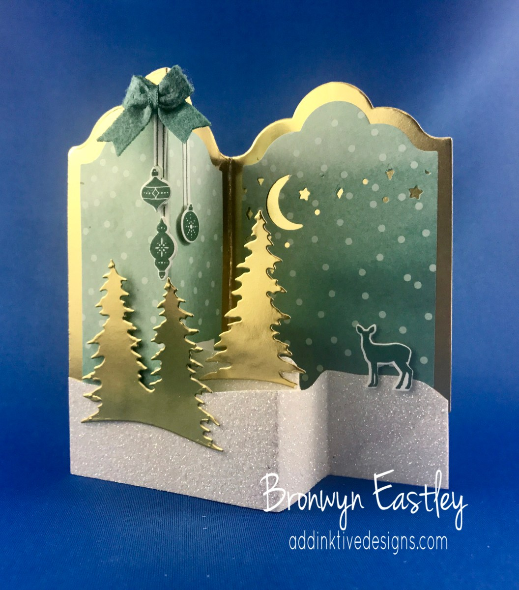 Carols of christmas 1 double z fold box card tutorial for How to make folded christmas cards