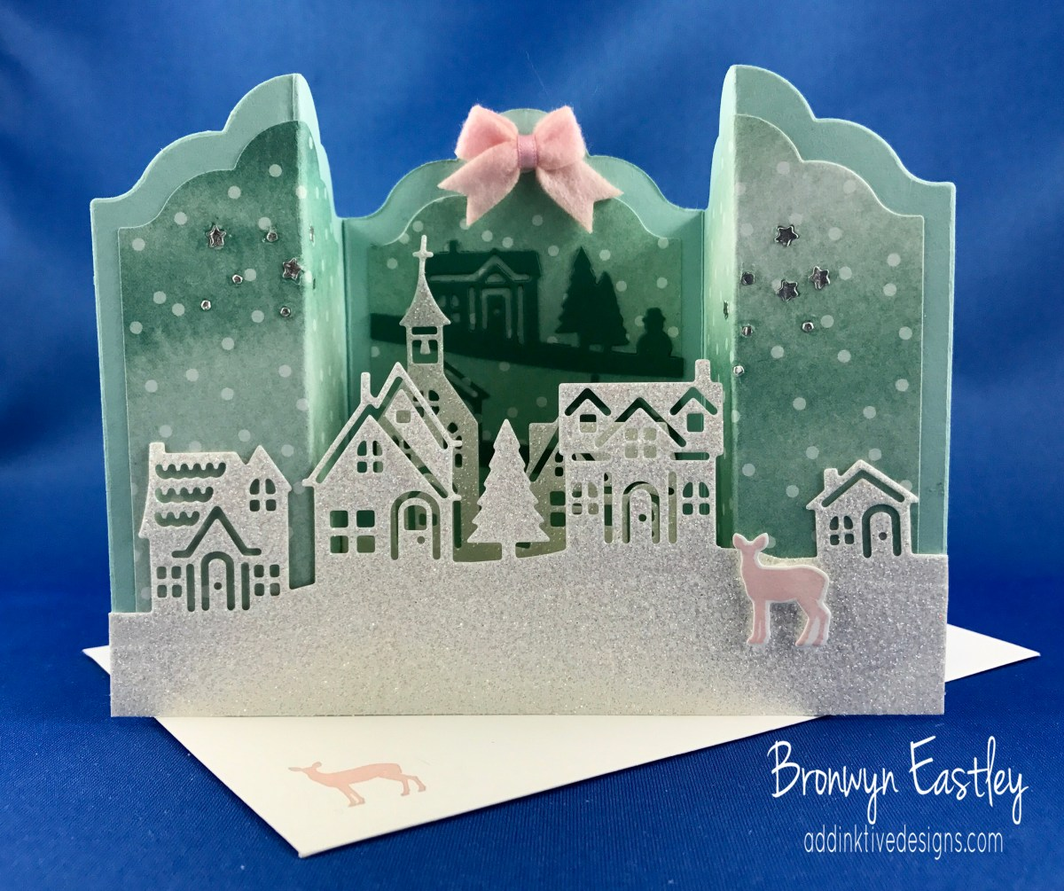 Hometown Greetings Bridge Fold Card for Just Add Ink