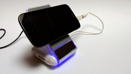 Smartphone im Querformat