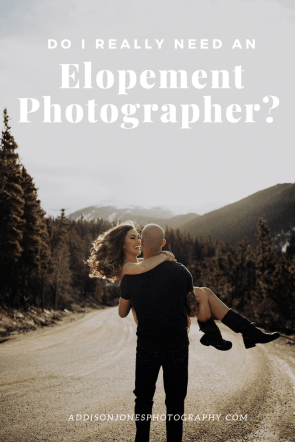 image of couple with text, do I really need an elopement photographer
