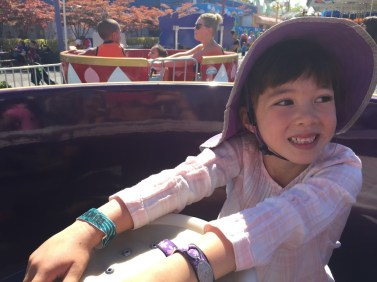 Spinning teacups at the PNE