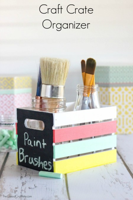 Craft-Crate-Organizer-use-Multi-Surface-and-Chalkboard-paint-to-create-storage-for-supplies.-