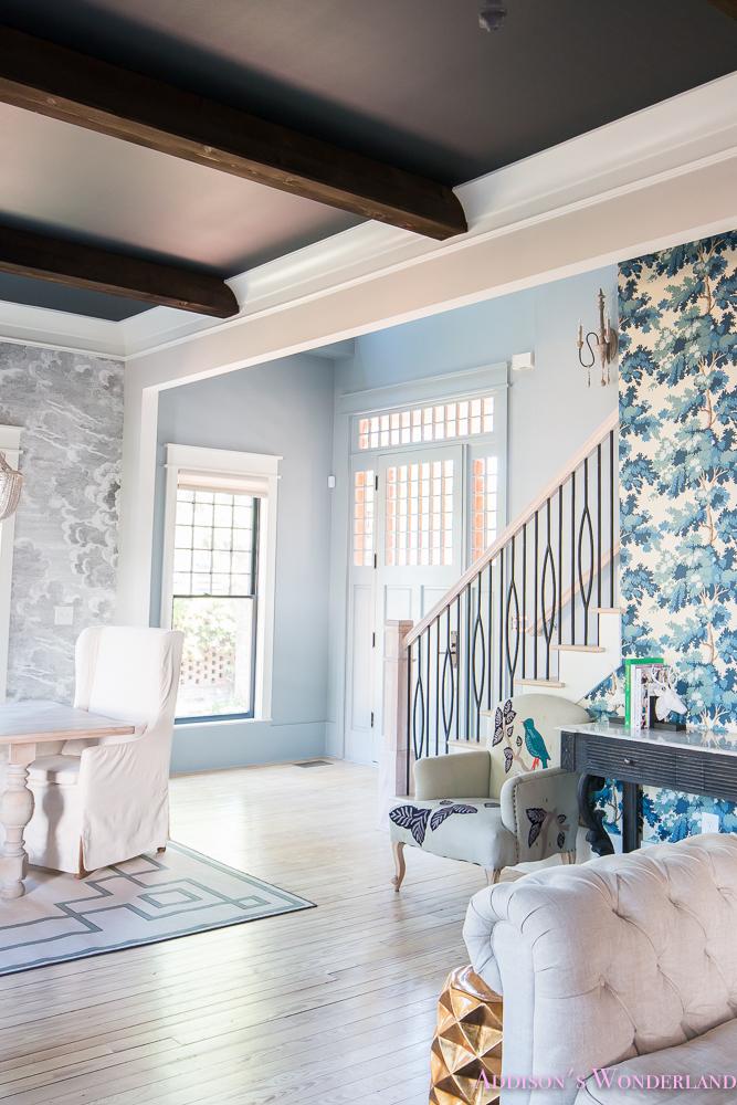 Our Powder Blue Foyer Update Addisons Wonderland