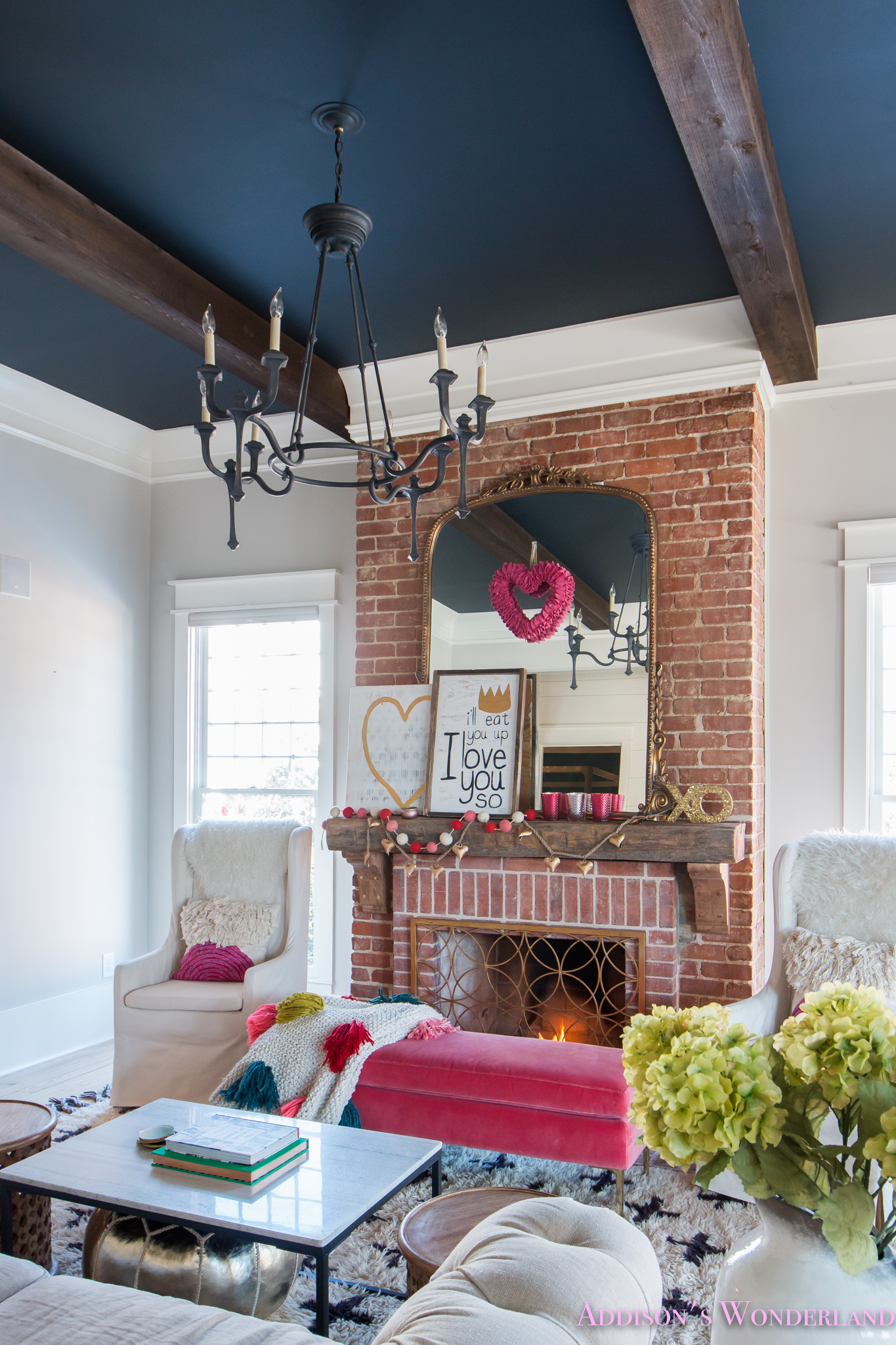 Our Colorful, Whimsical & Elegant Valentine's Day Living ... on Room Decorations  id=90790