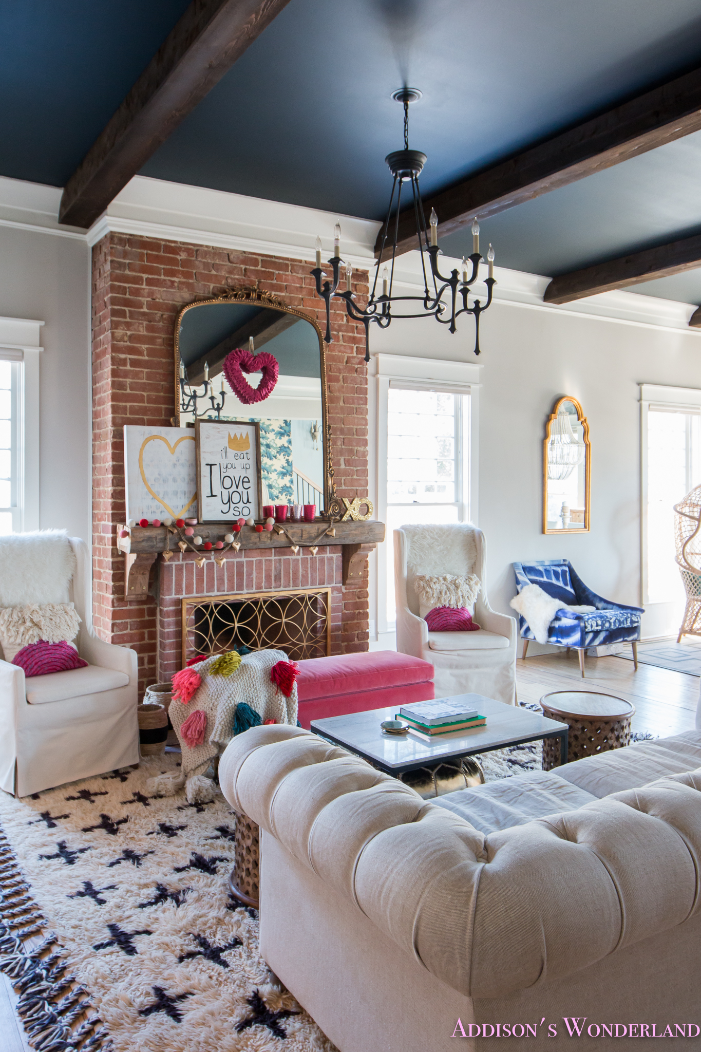 Our Colorful, Whimsical & Elegant Valentine's Day Living ... on Decor For Room  id=73917