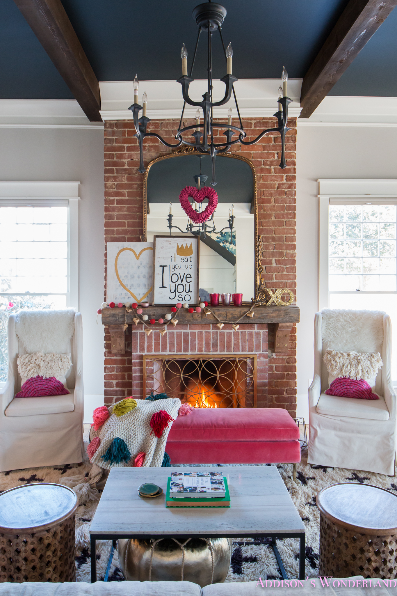 Our Colorful, Whimsical & Elegant Valentine's Day Living ... on Decor For Room  id=37073