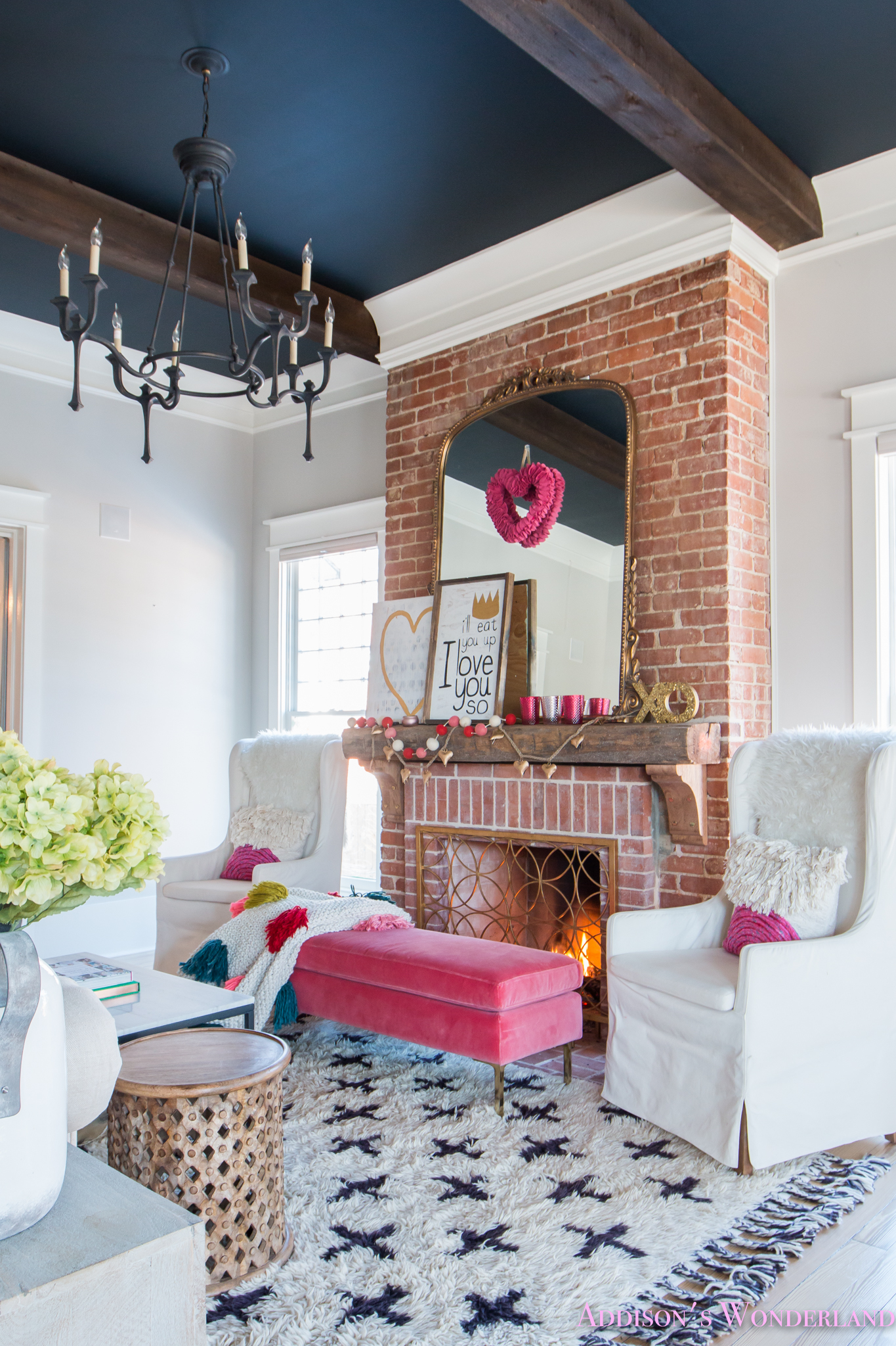 Our Colorful, Whimsical & Elegant Valentine's Day Living ... on Room Decorations  id=47908