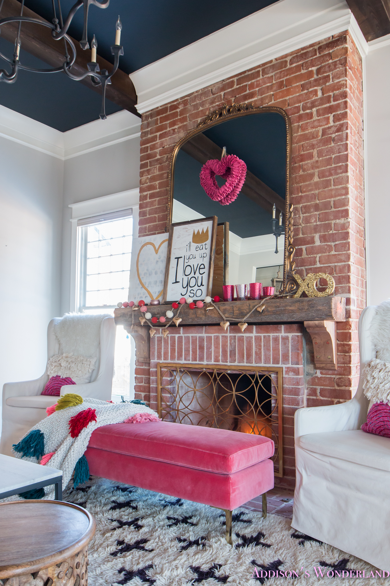 Our Colorful, Whimsical & Elegant Valentine's Day Living ... on Decor For Room  id=89227