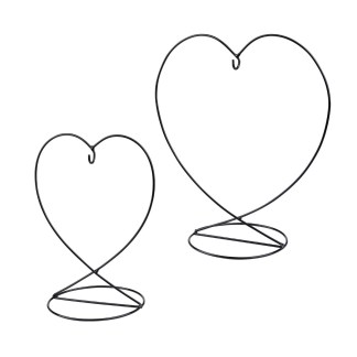 Nobile Friendship Heart Stand 8 cm