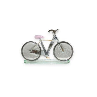 Nobile Fused Glass Bicycle - Pink Large