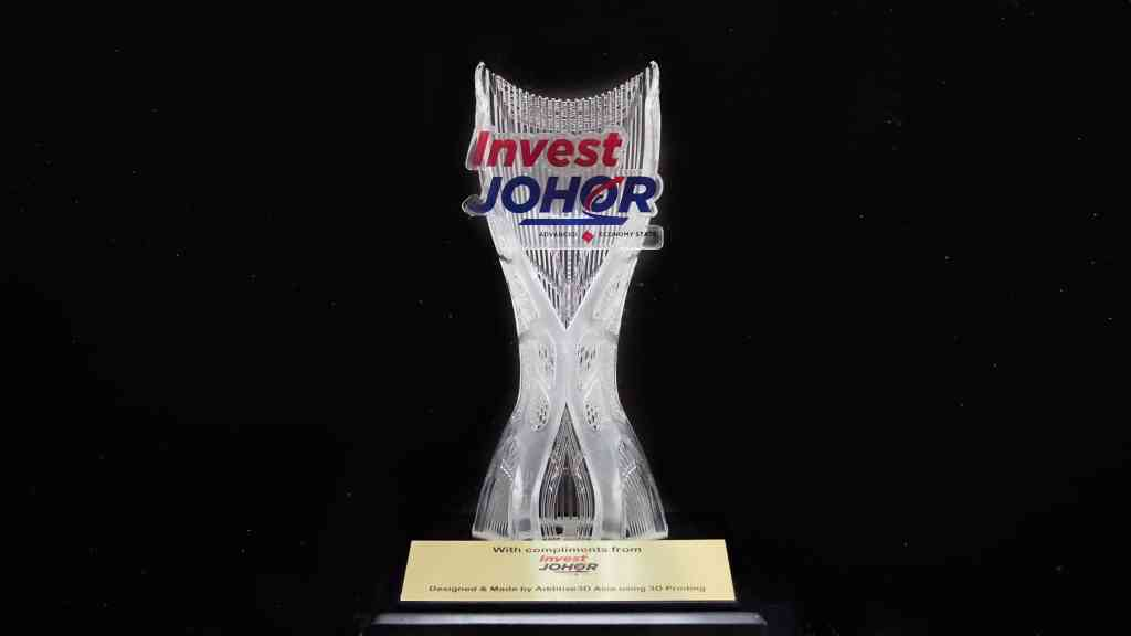 Clear Resin Trophy