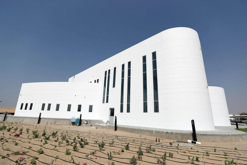 Massive 3D Printing Dubai Building