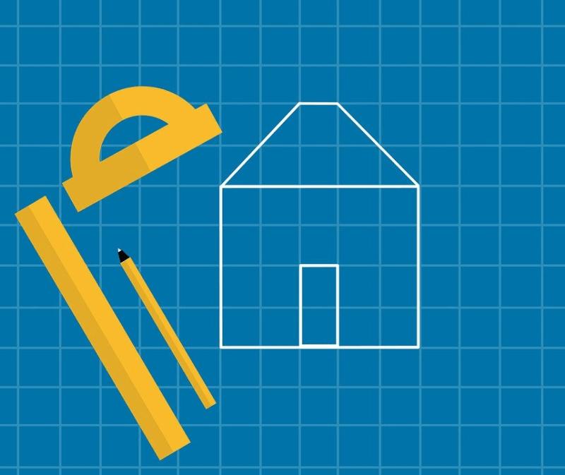 A blueprint of a house
