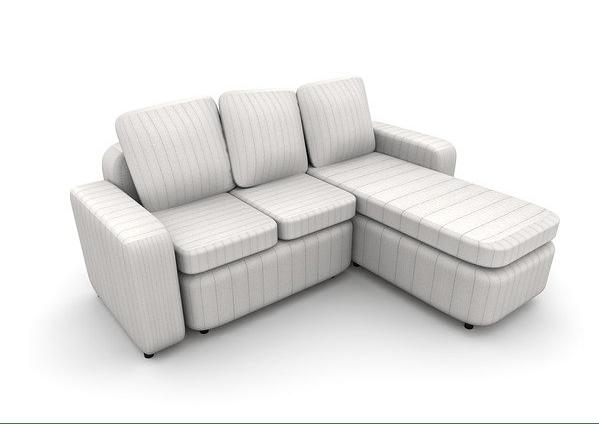 3D modeled armchair sofa