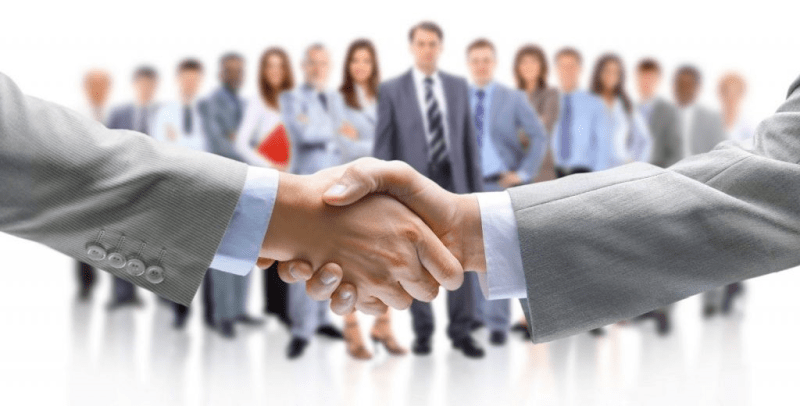 Handshake for a successful deal