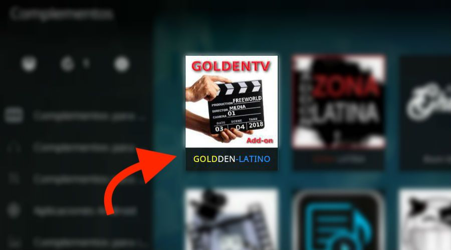 descargar instalar addon golden tv latino gratis para kodi