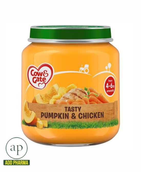 Cow & Gate Pumpkin And Chicken Jar 4 Mth+ - 125G Jar