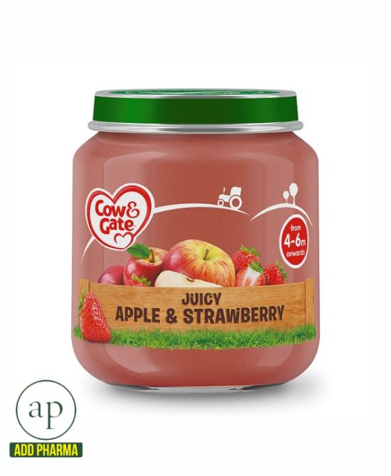 Cow & Gate Stage 1 Apple And Strawberry Jar 4 Mth+ - 125G