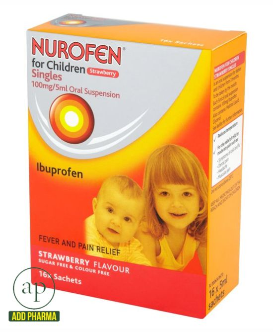 Nurofen for Children 100mg Sachets, Strawberry 16 per pack