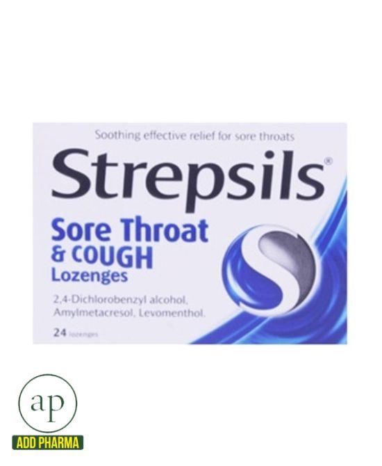 Strepsils Sore Throat And Cough Lozenges 24 Lozenges