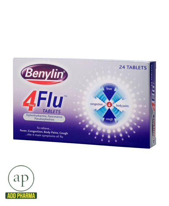 BENYLIN® 4 Flu Tablets - 24 Tablets