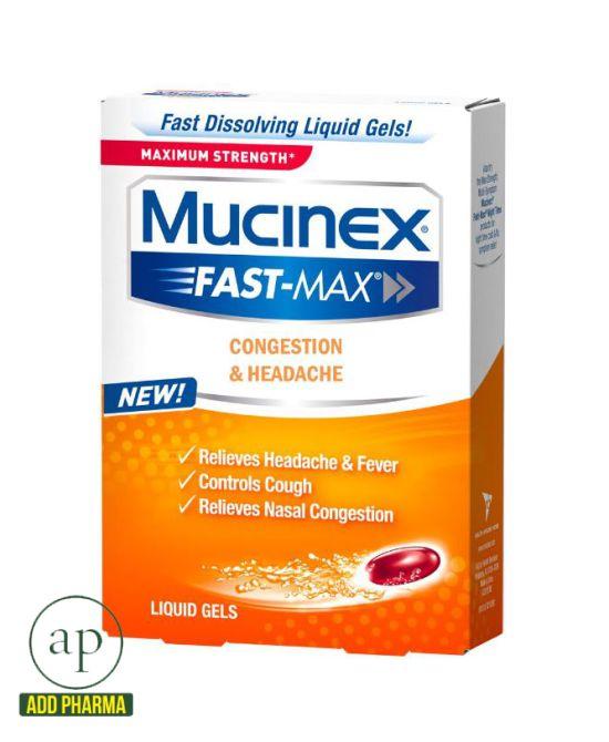 Mucinex Fast-Max - 16 Liquid Gels