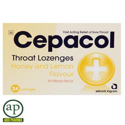 Throat Lozenges Honey And Lemon - 24 Lozenges